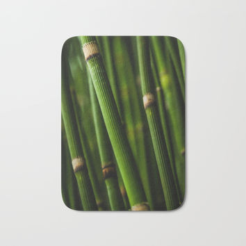 Bamboo pattern Bath Mat by ARTPICS