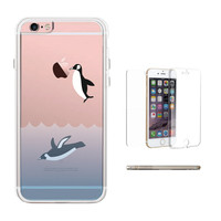 360° Full Protection Penguins Clear Phone Case