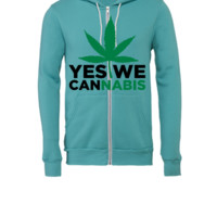 Yes We Cannabis  - Unisex Full-Zip Hooded Sweatshirt