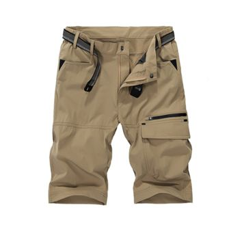 Large Size Mens Summer Straight Elastic Fifth Pants Casual Shorts