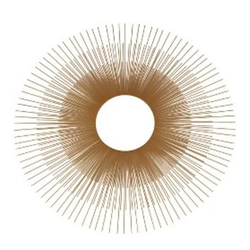 Oversized Gold Sunburst Mirror - 24""