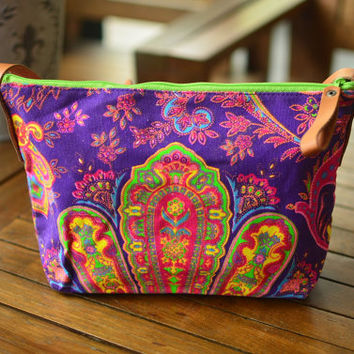 Hippie Crossbody Diaper bag Hobo Bag Sling Shoulder Bag Handbag Purse Hobo Neon Printed Purse Hippie Shoulder Hipster Weekender bag.