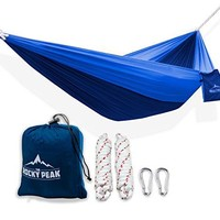 #1 Ultralight Camping Hammock with FREE ROPES - NEW Designs! for Backpacking or Hiking - [LIFETIME WARRANTY] - Portable and Super Strong