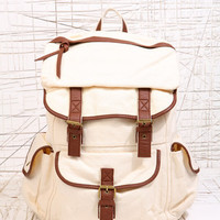 Plain Canvas Backpack at Urban Outfitters