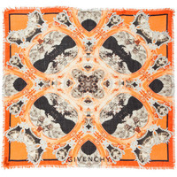 GIVENCHY Gothic Print Scarf in Orange