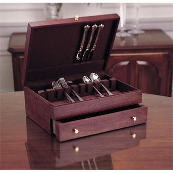 Reed & Barton 8012621050 Mahogany One-Drawer Flatware Chest