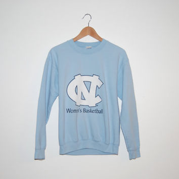 Vintage Carolina Blue UNC Chapel Hill's Women's Basketball Sweatshirt