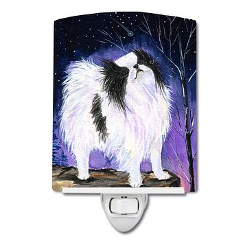 Japanese Chin Ceramic Night Light SS8070CNL