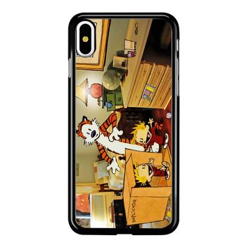 Calvin And Hobbes Surprise iPhone X Case