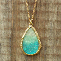 Ombre Dream Catcher Druzy Necklace [3153] - $21.00 : Vintage Inspired Clothing & Affordable Dresses, deloom | Modern. Vintage. Crafted.