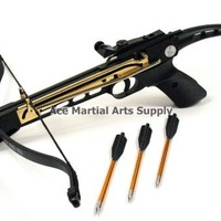 Cobra System Self Cocking Pistol Tactical Crossbow, 80-Pound