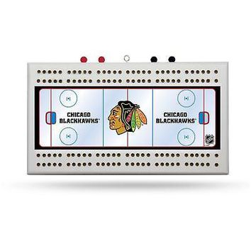 Chicago Blackhawks Official NHL Wood Cribbage Board by Rico 969677