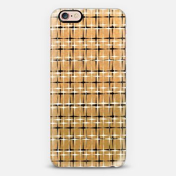 SPARKLE AND SHINE Glam Solid Warm Gold Color Yellow Metallic Shimmer Black White Stars Pattern Design Modern Chic Trendy Ebi Emporium Festive Holiday Cool Colorful New Years Style iPhone 6s case by Ebi Emporium | Casetify