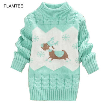 O Neck Long Sleeve Pull Fille Cute Print Autumn Kids Sweaters for Boys Girls Clothing New Soft Children's Sweater  Warm Coat
