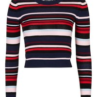 Multi Stripe Crop Top - Stripes - We Love