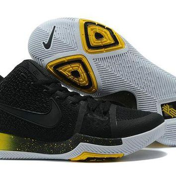 DCCK Nike Kyrie Irving 3 Black/Yellow Sport Shoes US7-12
