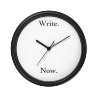 Write. Now. Clock by straymittens- 11089182