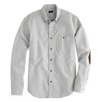 J.Crew Mens Heathered Chamois Elbow-Patch Shirt