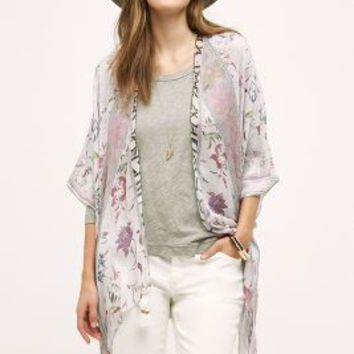 Violeta Kimono by Anthropologie in Pink Size: One Size Tops