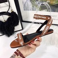 shosouvenir Balenciaga Ladies flat sandals