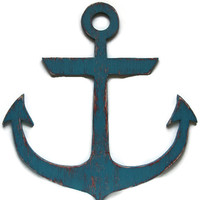 Rustic anchor nautical wall hanging