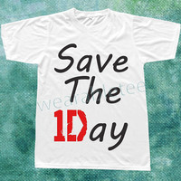 Save The Day T-Shirt One Direction T-Shirts White TShirts Unisex TShirts Women TShirts Men TShirts One Direction Shirts