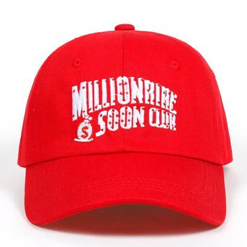 Trendy Winter Jacket Red Distressed Millionaire Soon Club BBC Dad Cap Hat men women cotton baseball cap fashion snapback golf hats AT_92_12