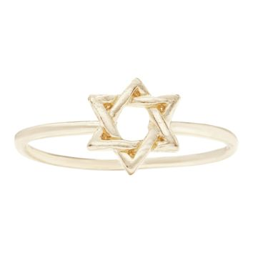 Star Of David Stacking Ring