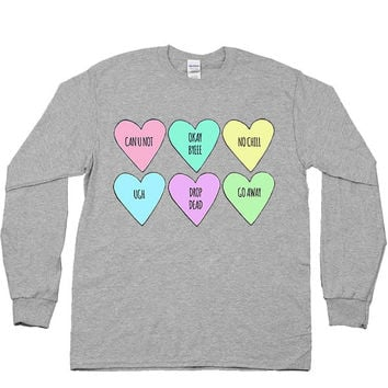 Conversation Hearts -- Unisex Long-Sleeve