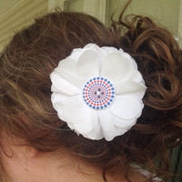 Fourth of July Flower hair clip/pin
