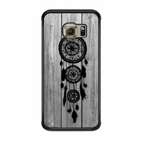 Hipster Vintage Black Dreamcatcher On Gray Wood Samsung Galaxy S6 Edge Case