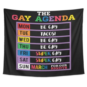 LGBT Gay Pride Tapestry - The Gay Agenda