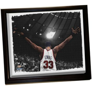 Patrick Ewing Arms Out Framed Stretched 32X40 Canvas