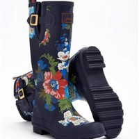 Navy Floral Welly print Womens Wellyprint   Joules US