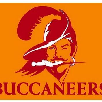 NFL Tampa Bay Buccaneers flag 3x5ft polyester banner 90x150 cm white jacket with 2 grommets