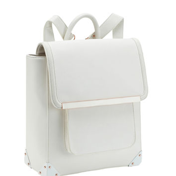 Aldo Rise X Ostwald Helgason White Bowie Backpack - White Backpack - ShopBAZAAR