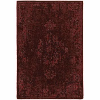 Revival Red Pink Oriental Overdyed Traditional Rug