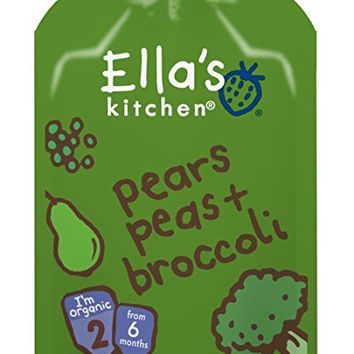 Ella's Kitchen Organic Stage 2, Pears Peas + Broccoli, 3.5 Ounce