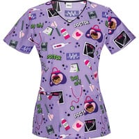 Doc McStuffins Doc Know Best Scrub Top For Women