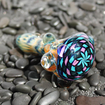 Mandala Inside out color changing glass pipe AMERICAN made