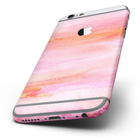 The Pink 922137 Absorbed Watercolor Texture Six-Piece Skin Kit for the iPhone 6/6s or 6/6s Plus
