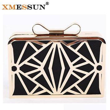 XMESSUN Brand Luxury Women Handbag Evening Bags Metal Patchwork Shoulder Bag Purse Party Bag Day Clutch Women Wedding Bag M184