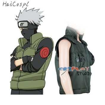 Naruto Sasauke ninja  Cosplay Costume Japanese Anime Ninja Coat shinobi Kakashi Cosplay  Cartoon Green Vest For Show Man Fancy Adult AT_81_8