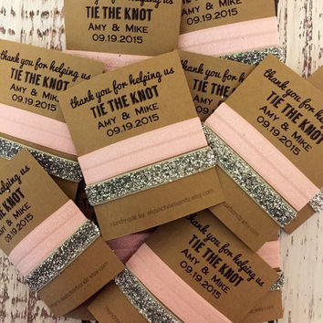 Thank you for helping us tie the knot - Wedding Favors - Hair Tie Favor - Bridal Party Favors