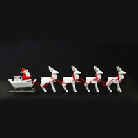 Origami Santa Sleigh w/Reindeer by One Hundred 80 Degrees