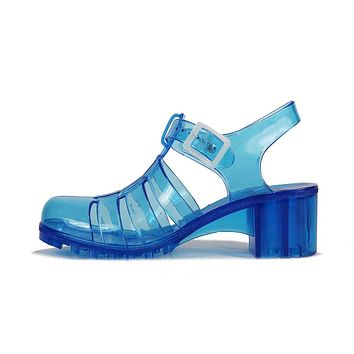 Women's Gumball Low Heel Jelly Sandal