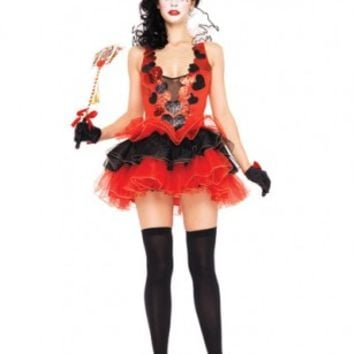 Red Black 2 PC Black Heart Queen Costume @ Amiclubwear costume Online Store,sexy costume,women's costume,christmas costumes,adult christmas costumes,santa claus costumes,fancy dress costumes,halloween costumes,halloween costume ideas,pirate costume,dance
