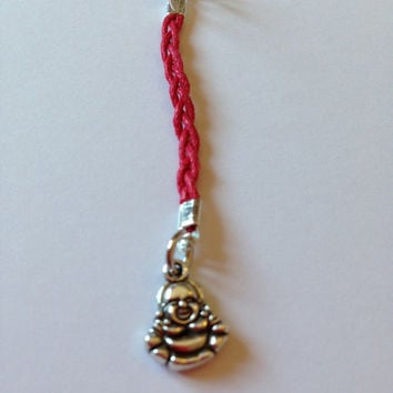 Lucky Buddha bag charm | Buddha zipper charm | Red string of fate | Buddha gift | Lucky buddha good luck charm | Purse charm | Buddha charm