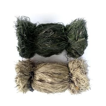 Multi color camouflage weight 2 pounds grass style ghillie suit thread,burlap yarns DIY mossy blend hunting  tactical kit