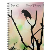 The Lonely Crow *personalize* Notebook
